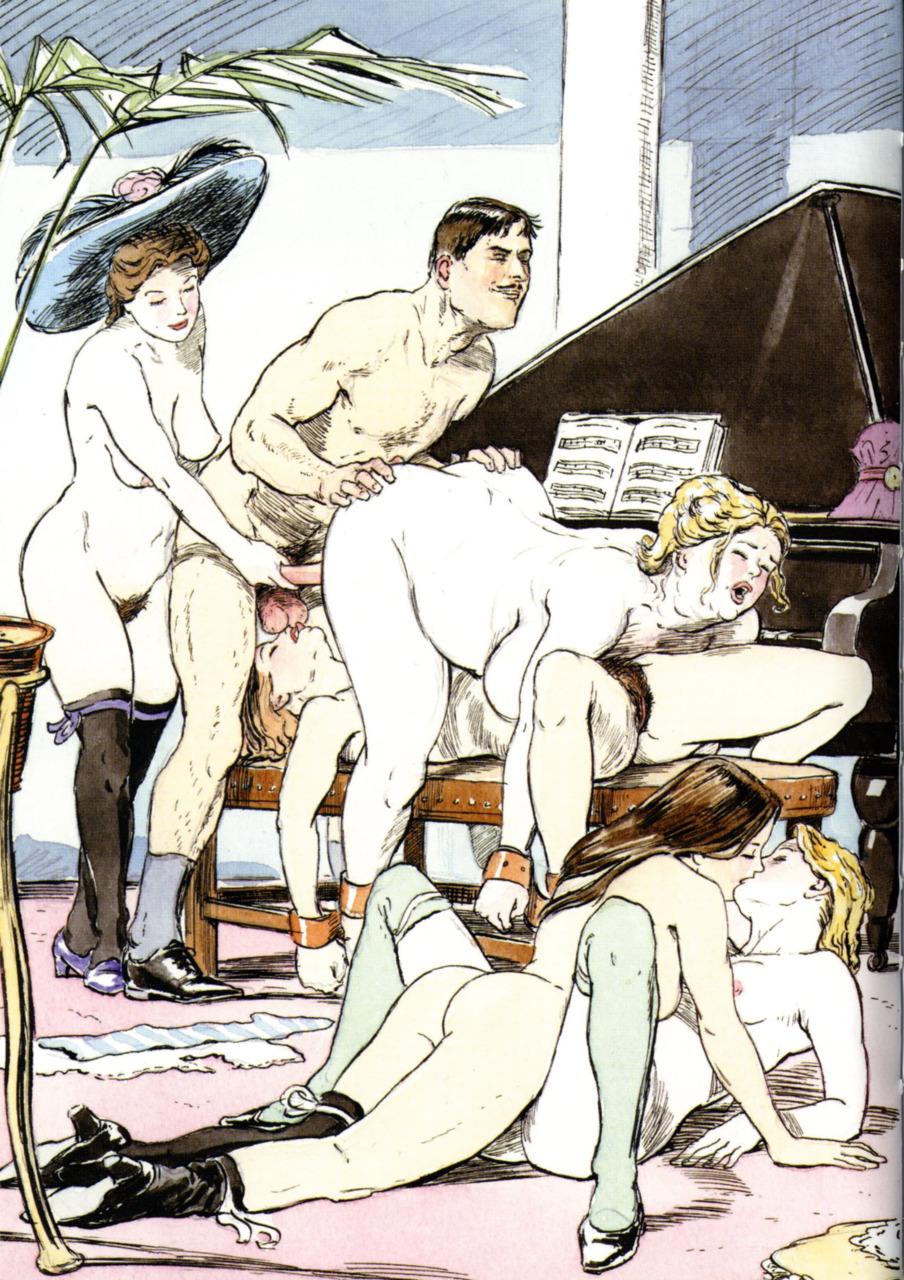 Ретро порно рисунок 9 фотография