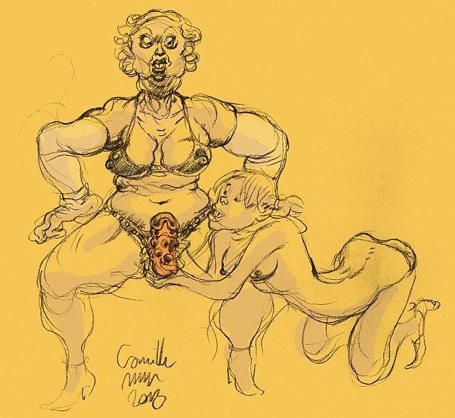 lesbienne caresse gode grosse vieille femme