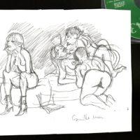 originaux dessins erotiques vente camille mm