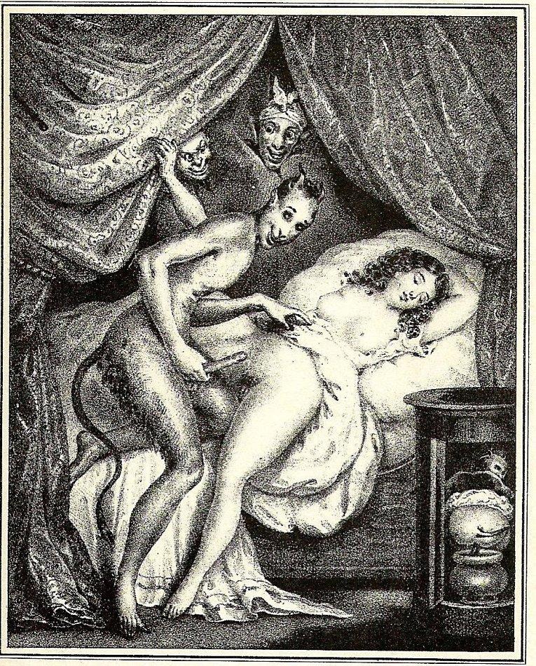 Эротические рисунки прошлого века, французское порно негр с белой
