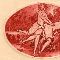 louis icart serie rouge eros