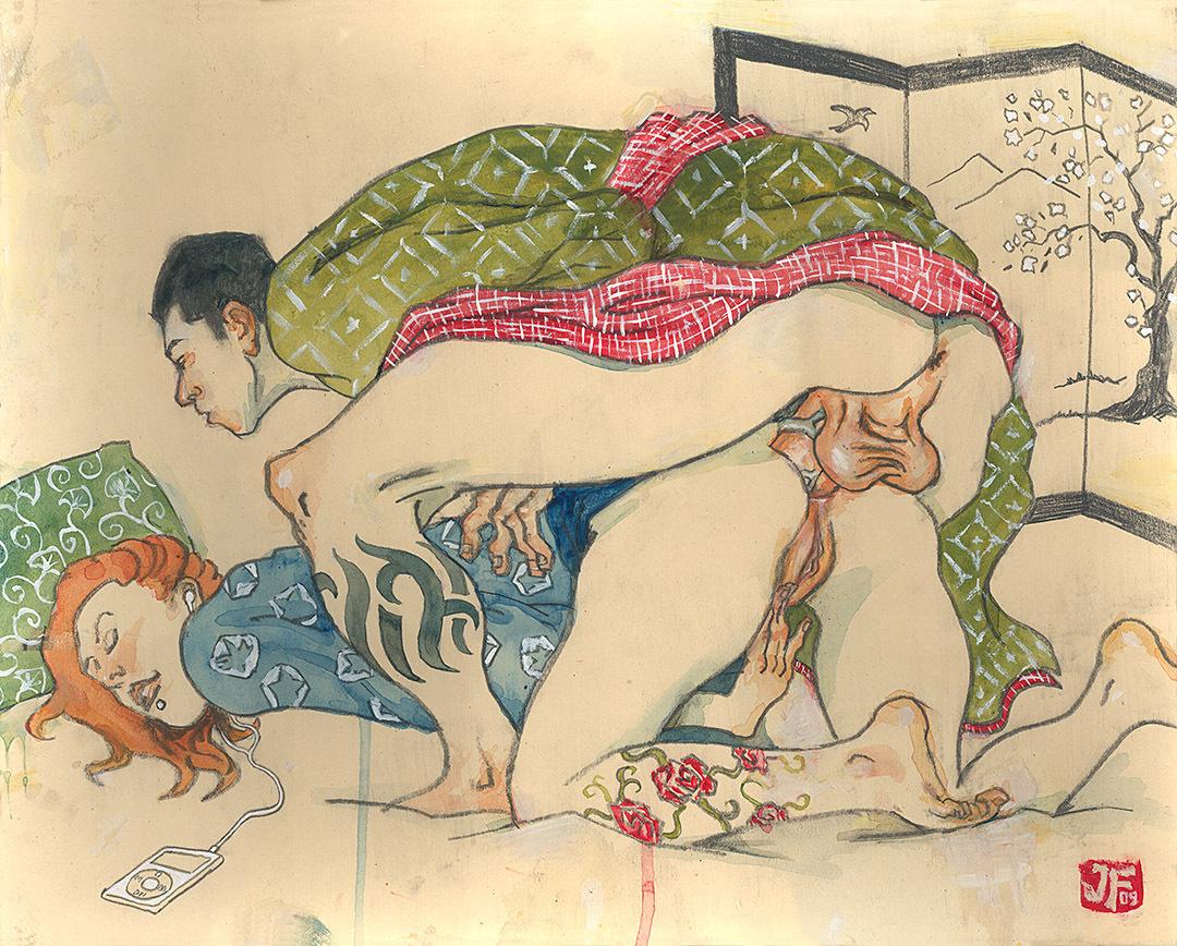 Секс в японских рисунках