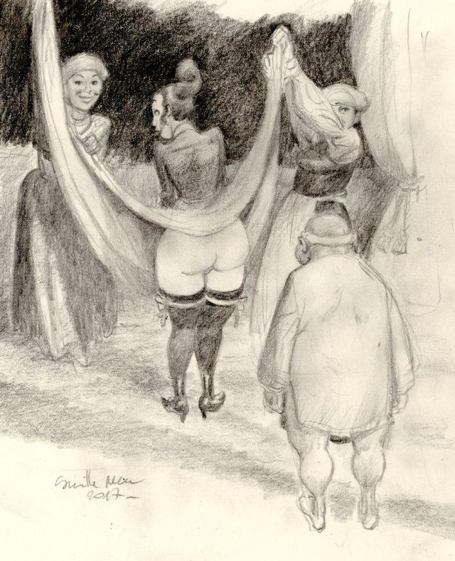 exhibition d'un fessier